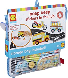 ALEX Toys 200104-5 Bath Beep Beep Stickers in The Tub Bath Toy