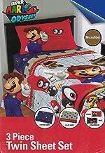 Super Mario Nintendo Odyssey 3-Piece Twin Bedding Sheet Set, 2018