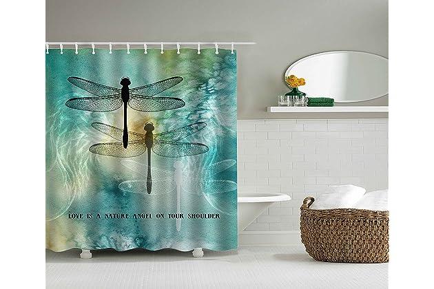 Charmant Cozyholy Mordern Dragonfly Patternd Shower Curtain Polyester Fabric 100%  Waterproof For Bathroom Original Design Bath Decor (Dragonflies, 180x180cm)