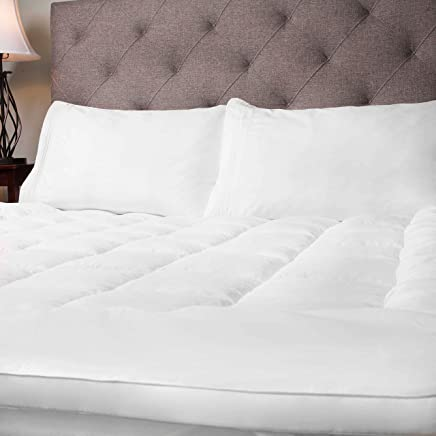 Sweet Home Collection Hypoallergenic Topper Polyester Down Alternative Soft and Luxurious Fiber Bed Mattress Pad Full