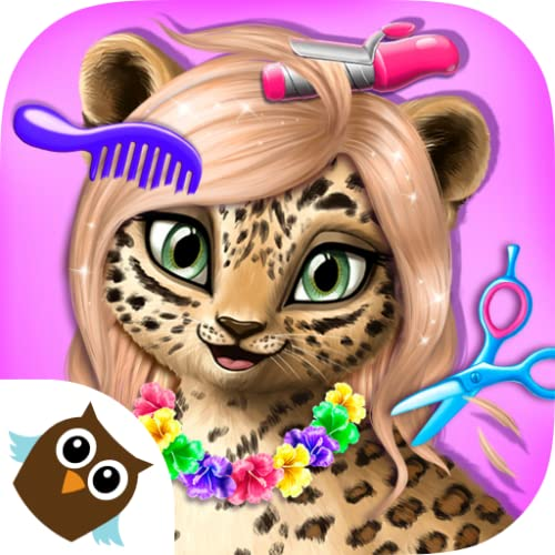 Jungle Animal Hair Salon - Makeup-, Mode- & Styling-Spiel für Kinder