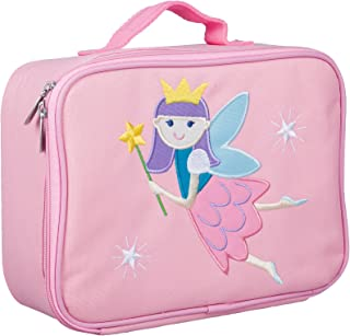 Wildkin Kids Insulated Embroidered Lunch Box for Boys and Girls, Perfect Size for Packing Hot or Cold Snacks for School and Travel, Measures 10 x7.5 x 4 Inches, BPA-Free, Olive Kids (Fairy Princess)
