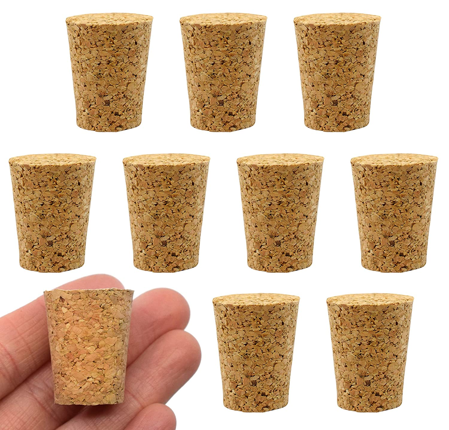 10PK Cork San Diego Mall Stoppers Dealing full price reduction Size #8-17mm Bottom Length 27mm - Top 22mm