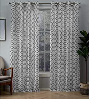 Exclusive Home Curtains Helena Panel Pair, 54x96, Charcoal