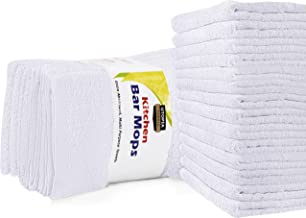 Utopia Towels Kitchen Bar Mop Cleaning Towels - Pure Cotton White Kitchen Towels, Restaurant Cleaning Towels, Shop Towels ...