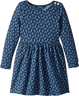 Floral French Terry Dress (Little Kids)