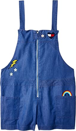 Zip-Up Denim Romper (Big Kids)