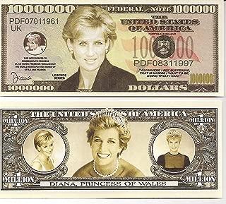 Princess Diana $Million Dollar$ Novelty Bill Collectible
