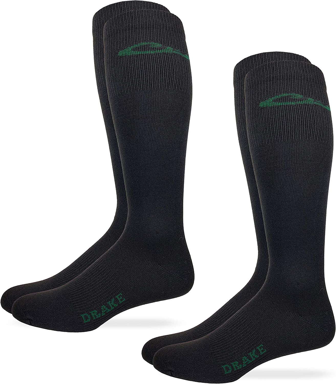 Drake Mens Lightweight Seamless Toe Liner Socks 2 Pair Pack
