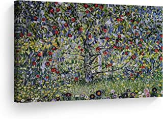 Smile Art Design Apple Tree I by Gustav Klimt Canvas Print Wall Art Famous Art Painting Reproduction Fine Art Oil Paintings Modern Art Home Decor - Made in The USA- 30x40