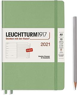 ロイヒトトゥルム 手帳 2021年 1月始まり A5 ウィークリー セイジ 361849