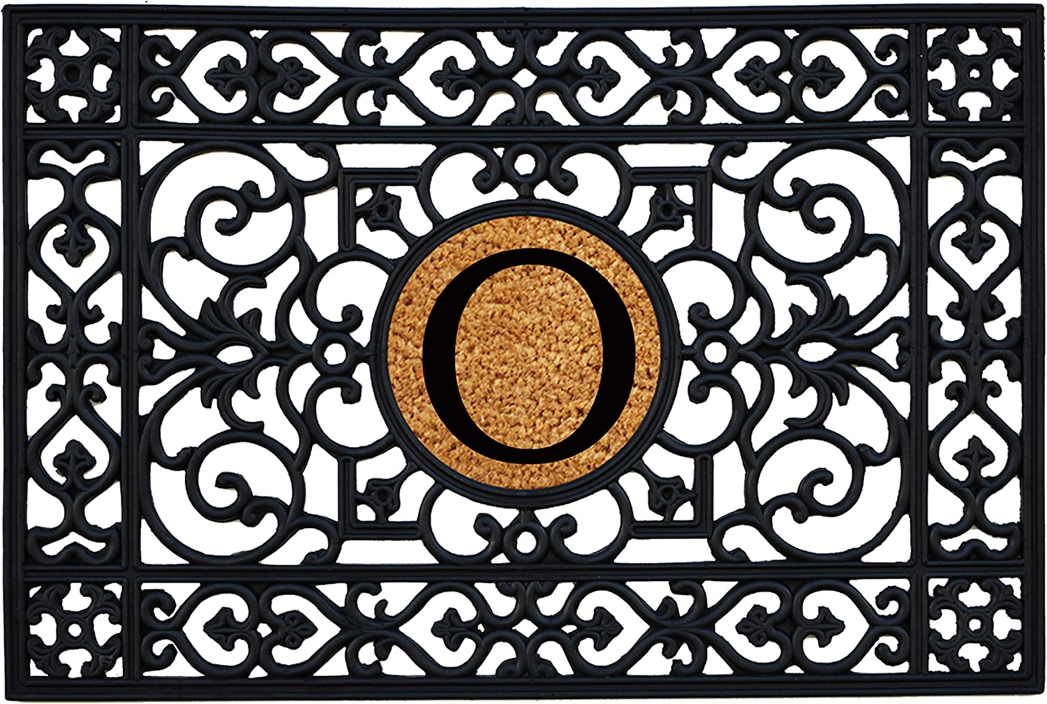 Home & More 160012436O Rubber Monogram Doormat 2-Feet X 3-Feet (Letter O)