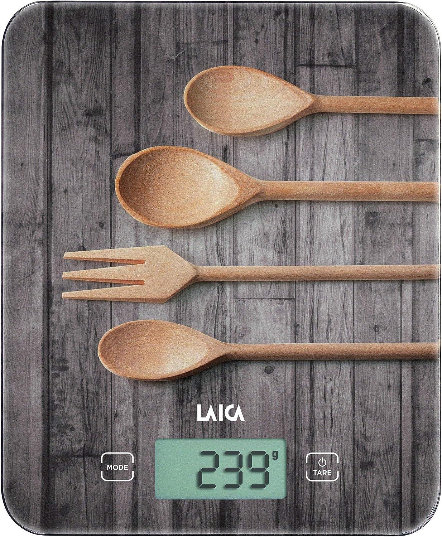 Balanza de cocina digital Laica KS5010 con elegante diseño pesa máximo 10 kg. en vidrio