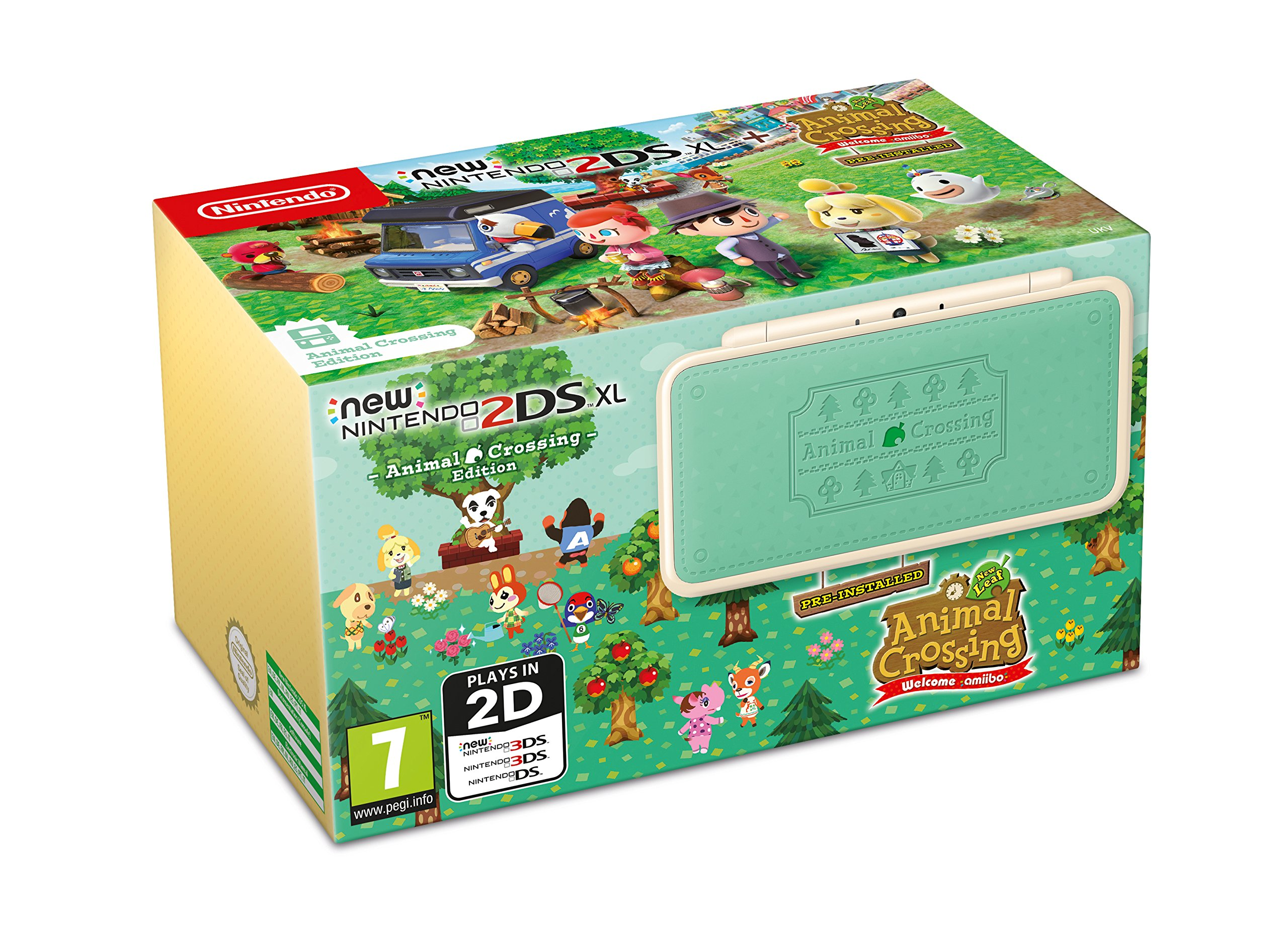 New Nintendo 2DS XL Animal Crossing + Animal Crossing Welcome ...