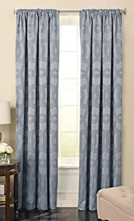 Beautyrest 63 Ivory Odette Blackout Window Curtain, Polyester, Sapphire, 52x108