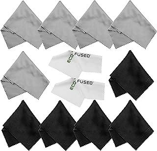 Paños de Limpieza de Microfibra - Paquete de 12 - Para Limpiar Anteojos, Gafas, Lentes de Cámara, iPad, Tablets, Phones, iPhone, Teléfonos Android, Laptops, Pantallas LCD y otras Superficies Delicadas