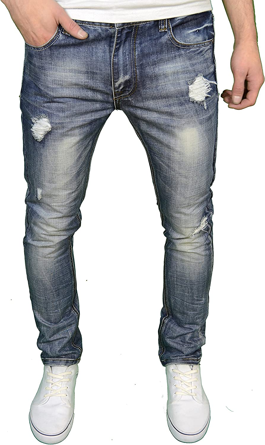 Soulstar Mens Excellence Max 55% OFF Designer Branded Slim Fashio Distressed Ripped Fit