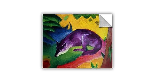 ArtWall Franz Marcs Blue Fox Art Appeelz Removable Graphic Wall Art 18 x 24
