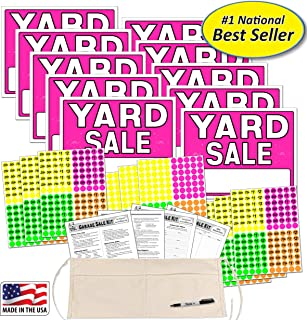 Yard Sale Sign Kit with Pricing Stickers and Change Apron (A502Y)