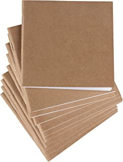 Kraft Notebook - 48-Pack Unlined Blank Books, Unruled Plain Travel Journals for Students, School, Children's Writing Books, Class Projects, Brown, 4.1 x 4.2 Inches, 24 Sheets Each
