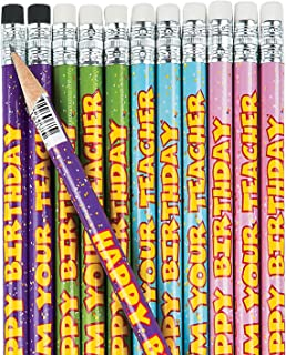 Fun Express - Happy Birthday from Your Teacher Pencils - Stationery - Pencils - Pencils - Printed - 24 Pieces