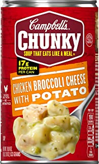 Campbell's Chunky Chicken Broccoli Cheese with Potato Soup, 18.8 oz. Can