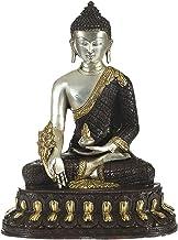 Tibetan Buddhist Healing Buddha (Medicine Buddha) - Brass Statue - Color Brown Silver Gold Color