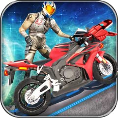Latest and modern bikes with unique and heavy engines Realistic sound effects Easy and smooth controls High quality 3d graphics and futuristic space environment NOS button for boosting your bike meter Thrilling and detailed asphalt tracks Most authen...