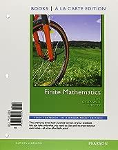 Finite Mathematics, Books a la Carte Edition (10th Edition)