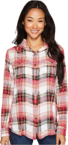 1c2a098780a Shandie Hoodie in Yard Dye Cotton Rayon Plaid