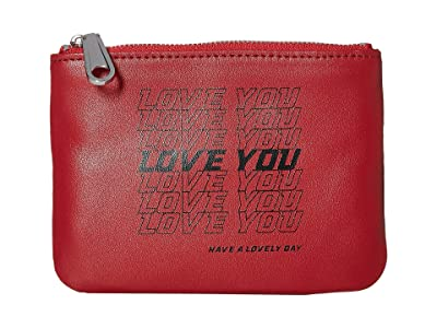 Rebecca Minkoff Betty Pouch Love You (Scarlet/Black) Travel Pouch