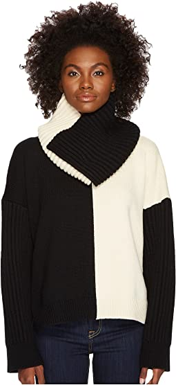 Sportmax - Califfo Removable Infinity Neck Bias Block Sweater