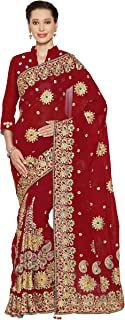 Best red heavy saree Reviews