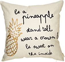 Fahrendom Be a Pineapple Stand Tall Wear a Crown Inspirational Quote Décor Spring Summer..