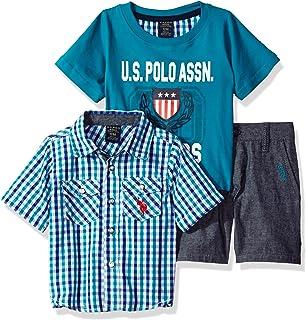 U.S. Polo Assn. Baby Boys Sleeve Sport, T-Shirt and Twill...