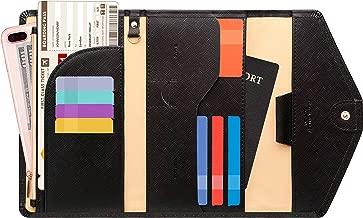 Zoppen Multi-Purpose RFID Blocking Travel Passport Wallet (Ver.4) Tri-fold Document Organizer Holder (#14 Light Brown)