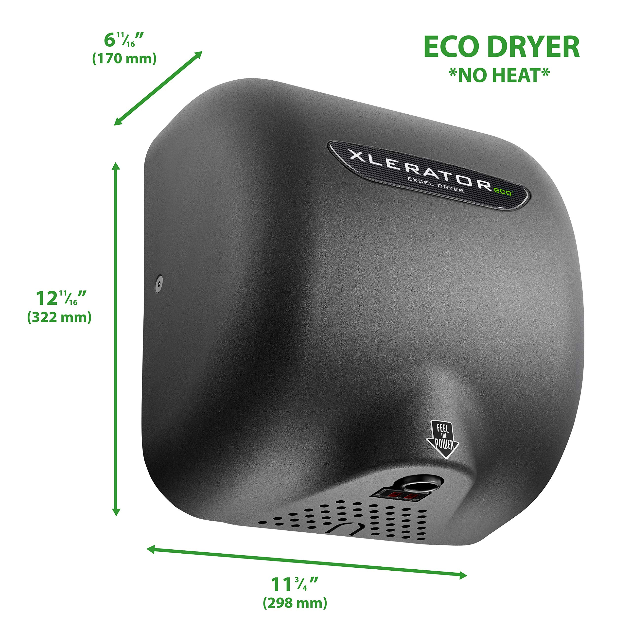 Excel Dryer XL-GR-ECO XLERATOR Hand Dryer Textured Graphite Cover 110-120V
