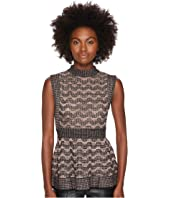 M Missoni - Lurex Greek Open Knit Top