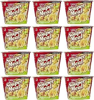 Nissin Souper Meal Bowl Noodle Instant Noodle Soup Picante Shrimp (Hot & Spicy)- 12 Packs of 4.03 Oz