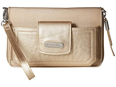 Baggallini New Classic RFID Phone Wallet Crossbody (Champagne Shimmer) Cross Body Handbags