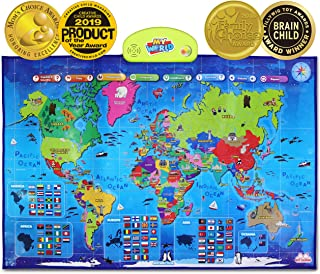 BEST LEARNING i-Poster My World Interactive Map - Educational Talking Toy for Boys and Girls Ages 5-12 Kids