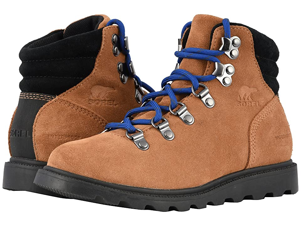 SOREL Kids Madsontm Hiker Waterproof (Little Kid/Big Kid) (Camel Brown/Black) Kids Shoes