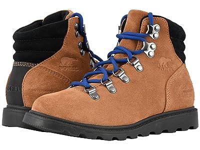 SOREL Kids Madsontm Hiker Waterproof (Little Kid/Big Kid) (Camel Brown/Black) Kids Shoes