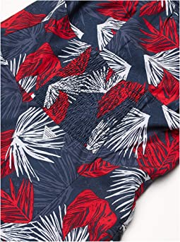 Collegiate Navy Feathery Leaves