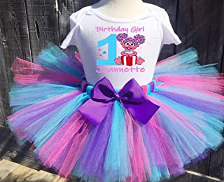 Abby Cadabby Personalized Birthday Outfit Tutu Set Purple/Turquoise