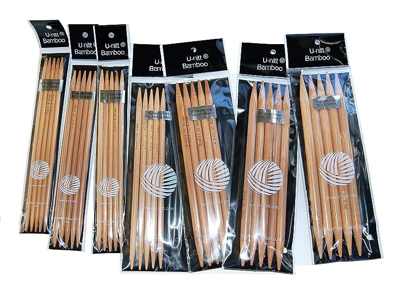 U-nitt Bamboo Knitting Needles Double Point 8