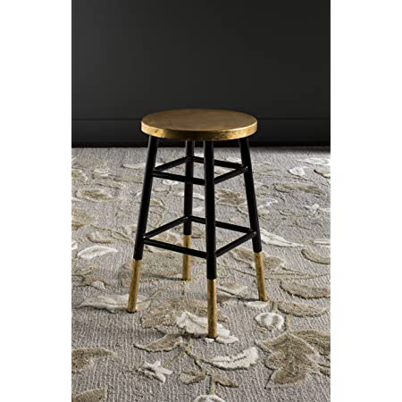 Safavieh Home Collection Emery Black and Dipped Gold Leaf 24-inch Counter Stool