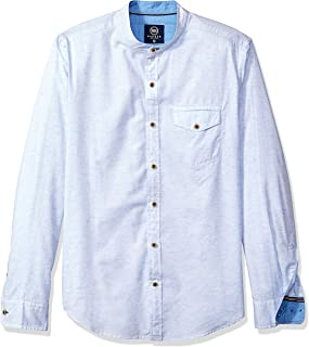 Best mens white banded collar shirt Reviews