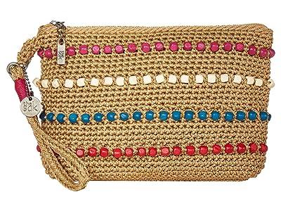 The Sak Sayulita Gen Wristlet (Camel Multi Wood Beads) Handbags