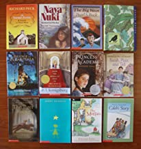 The Princess Academy ~ The Teacher's Funeral ~ Naya Nuki ~ Aleutian Sparrow ~ Sarah Plain and Tall ~ Caleb's Story ~ Stargirl ~ Tiger Rising ~ The Moffats ~ The Big Wave ~ From the Mixed-Up Files of Mrs. Basil E. Frankweiler ~ Bridge to Terabithia (Set of 12 Award-Winning Chapter Books, Ages 8-12)